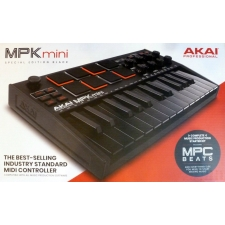 Akai MPK Mini 3 - Compact Keyboard and Pad Controller - BLACK