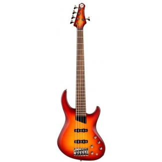 MTD Kingston Saratoga Deluxe 5 String Bass in 3 Tone Sunburst, Secondhand