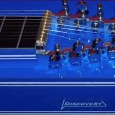 Mullen S10 Discovery Pedal Steel in Bright Blue With Bill L 705 Pickup & Case