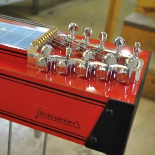 Mullen S10 Discovery Pedal Steel in Red with Bill L 705 Pick-Up & Case