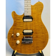 Music Man (USA) Axis Super Sport in Trans Flame Gold Inc Case, Lefthanded