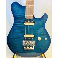 Music Man (USA) Axis Balboa Guitar in Balboa Blue Burst Flame Inc Case