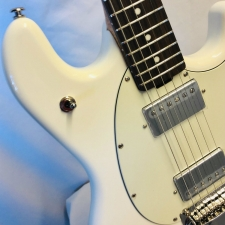 Music Man (USA) StingRay RS Guitar with Tremolo in Ivory White inc Case