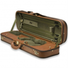 Negri Diplomat Violin Case with Cognac Brown Leather & Olive Interier (VC425-4/4)