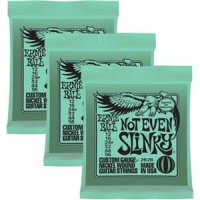 3 Sets of Ernie Ball 2626 Not Even Slinky Electric Guitar Strings 12-56