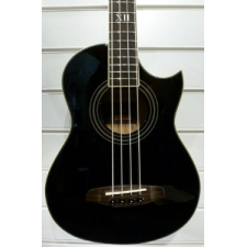 Ortega Deep Series D Walker 4-String Acoustic Bass in Black