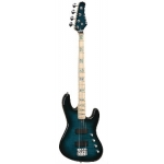 Overwater Contemporary 4 String Jazz Bass in Trans Blue Finish