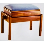 Piano Accessories Single Adjustable Piano Stool With Fixed Leg & Box