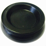 Piano Accessories - Black Rubber Castor Cup, 45mm Diameter (PA340)