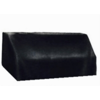 Piano Accessories - Leather Look Short Drop Vinyl Cover in Black (PA266NA)