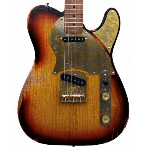 Paoletti Nancy Loft Series SS Electric Guitar in 3 Tone Pickled Finish with Hardcase