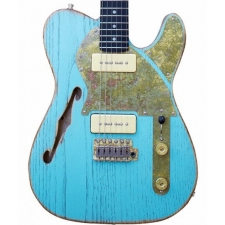 Paoletti Nancy Lounge Series Guitar With 2 x P90 in Surf Green with Hardcase