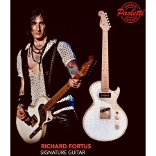 Paoletti Richard Fortus Signature Leather Series Guitar #2 in White with Case