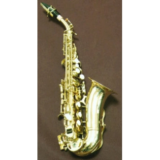 Paris Bb Curved Soprano Saxophone With Mouthpiece & Sax Case, Pre Owned