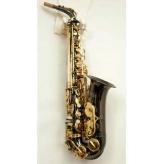 Paris Debut Black Eb Alto Saxophone With Mouthpiece & Sax Case