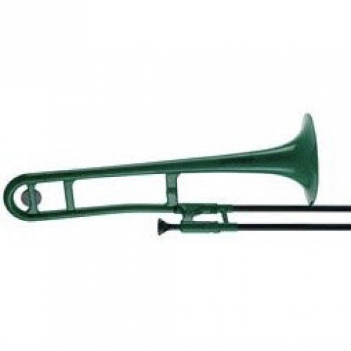 PBone 1G Plastic Trombone In Green With Bag