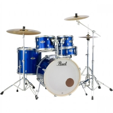 "Pearl Export EXX 20"" Drum Kit in High Volt Blue with Hardware & Sabian Cymbals"