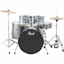 """Pearl Roadshow American Fusion 22"""" Kit In Charcoal With Hardware & Cymbals"""