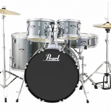 "Pearl Roadshow American Fusion 22"" Kit In Charcoal With Hardware & Cymbals"