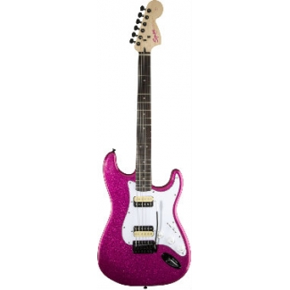 Squier Affinity Strat, Candy Pink Sparkle