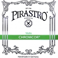 Set - 4/4 Size Pirastro Chromcor Medium Tension Violin Strings (319020)