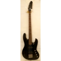 Lodestone Primal Artist 4 String Bass in Trans Black Maple Flame, Ex-Demo