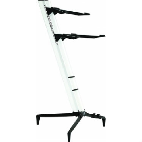 QuikLok Tower Double-tier Keyboard Slant Stand in White - SL913