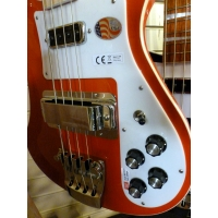 Rickenbacker 4003 4 String Bass, Limited Edition Pillarbox Red