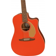 Fender Redondo Player,  Electro-Acoustic Guitar Fiesta Red