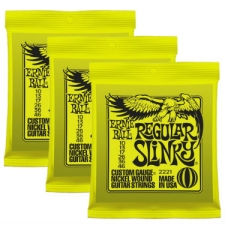 3 Sets of Ernie Ball 2221 Regular Slinky Electric Guitar Strings 10-46