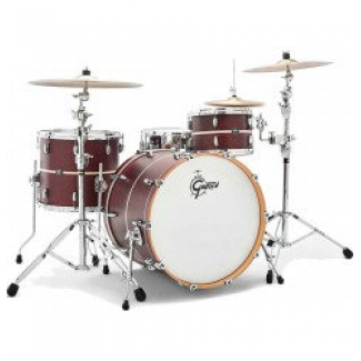 Gretsch Renown Maple 3pc Shell Pack in Satin Walnut with Pearl Inlay