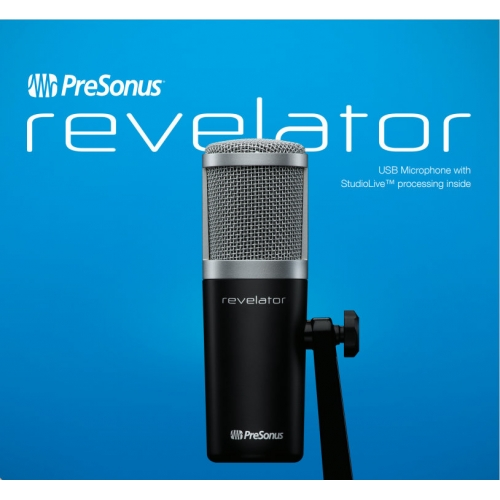 Presonus Revelator USB-C Compatible Microphone with StudioLive voice effects processing