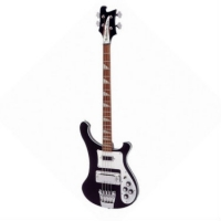 Rickenbacker 4003, 4 String Bass Guitar in Jetglo with Hard Case