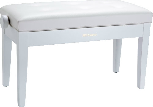 Roland RPB-D300WH Duet Piano Bench with Cushioned Seat
