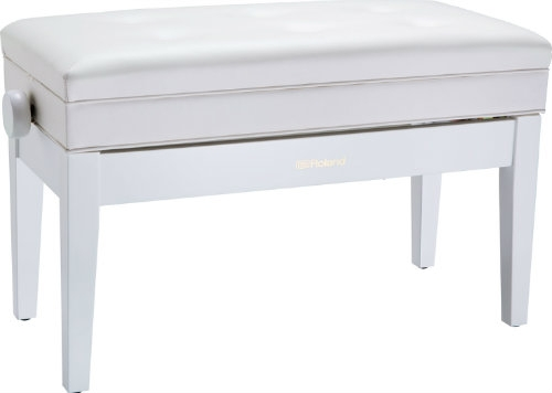 Roland RPB D400WH Duet Piano Bench with Storage Compartment
