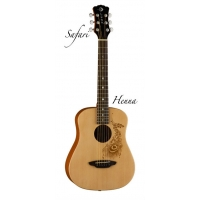 Luna Safari Henna 3/4 Size Travel Guitar