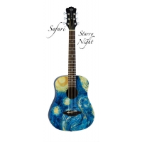 Luna Safari Starry Night 3/4 Travel Guitar