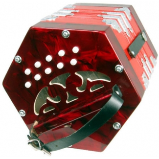 Scarlatti SC20R Anglo C/G Concertina With 20 Keys In Red (GR4711R)