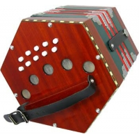 Scarlatti SC20W Anglo C/G Concertina With 20 Keys In Red (GR4712)