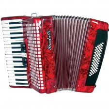 Scarlatti 60 Bass Accordion 3V in Red Pearl Second Hand