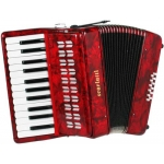 Scarlatti 12 Bass Accordion in Red Pearl Finish with Case & Straps (GR41001R)
