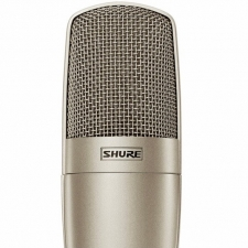 Shure KSM32 Cardioid Condenser Microphone in Champagne with Case