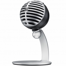Shure MV5 Condenser Mic (iOS & USB) in Grey with Desktop Stand & Cables