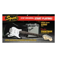 Squier by Fender Affinity Strat in Black Package with 10G Amp