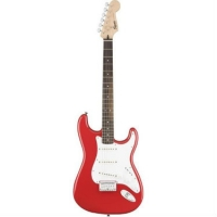 Squier Bullet Stratocaster Electric Guitar with HT Hard Tail in Fiesta Red