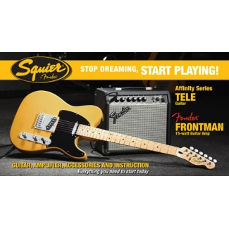 Squier by Fender Affinity Telecaster Butterscotch Blonde Pack with Frontman Amp