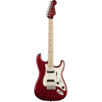 Squier Contemporary Stratocaster HH Electric Guitar in Dark Metallic Red