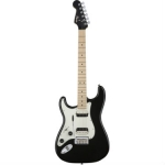 Squier Contemporary Stratocaster HH Electric Guitar in Black, Lefthanded