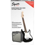 Squier Stratocaster SS Short-Scale Electric Guitar Pack in Black