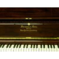 Steinway & Sons Restored Upright Piano in Mahogany Polyester